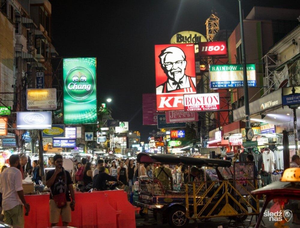 najsłynniejsza backpackerskia ulica świata Khao San Road