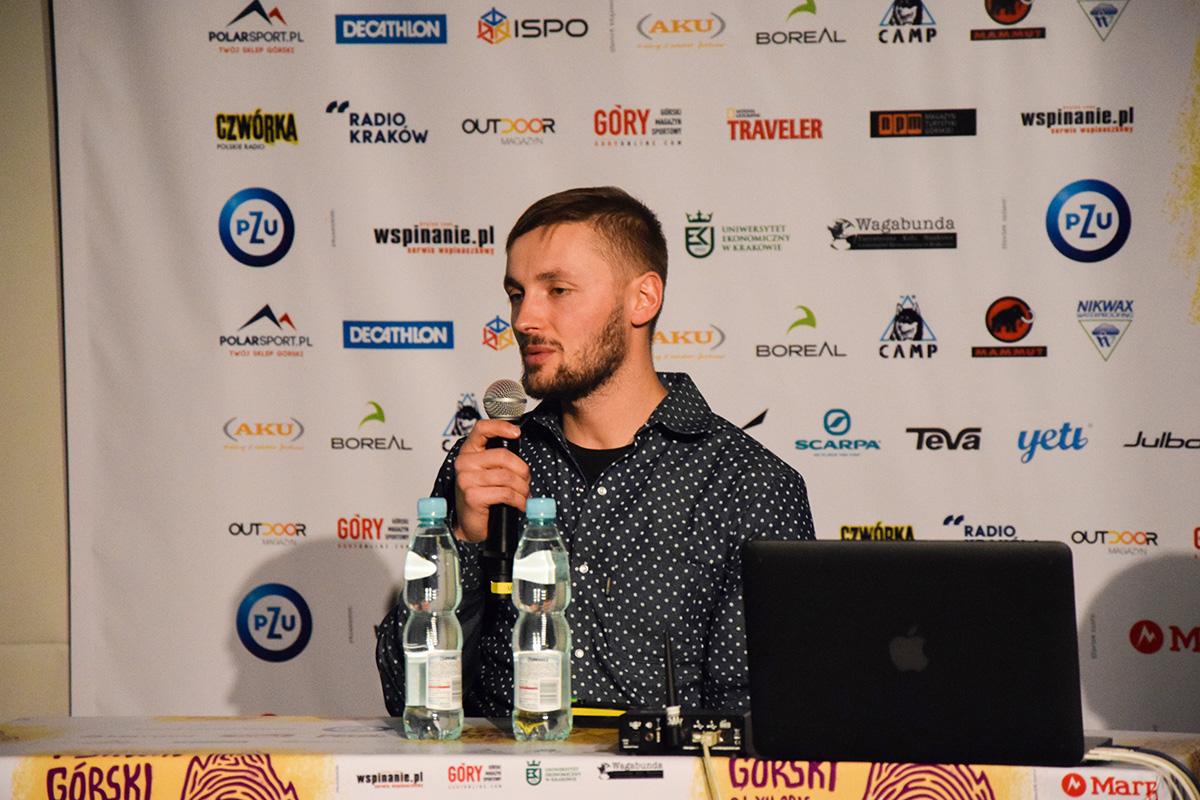 Andrzej Bargiel na 14. Krakowskim Festiwalu Górskim (zdj. A. D. Janik - Zabakcylowani.PL)