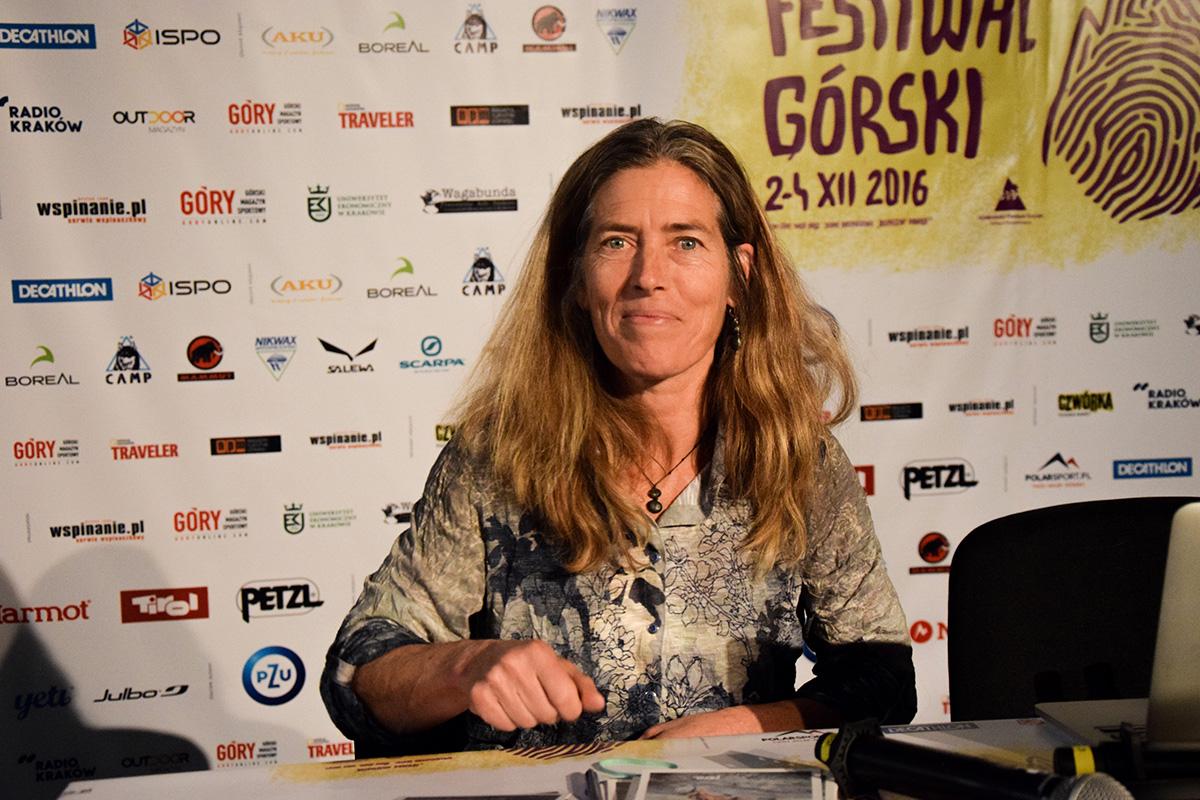 Lynn Hill na 14. Krakowskim Festiwalu Górskim (zdj. A. D. Janik - Zabakcylowani.PL)