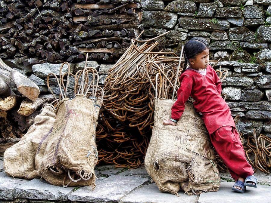Dziecko w Nepalu - Annapurna Circuit