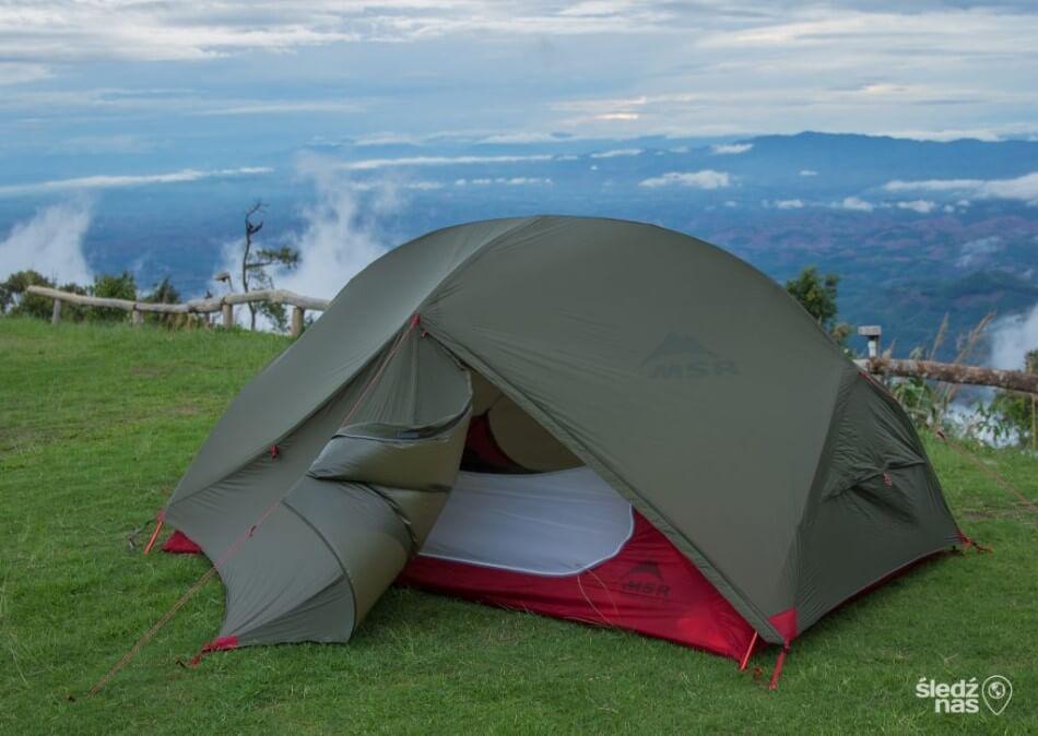 Park Khun Sathan i namiot MSR Hubba Hubba NX