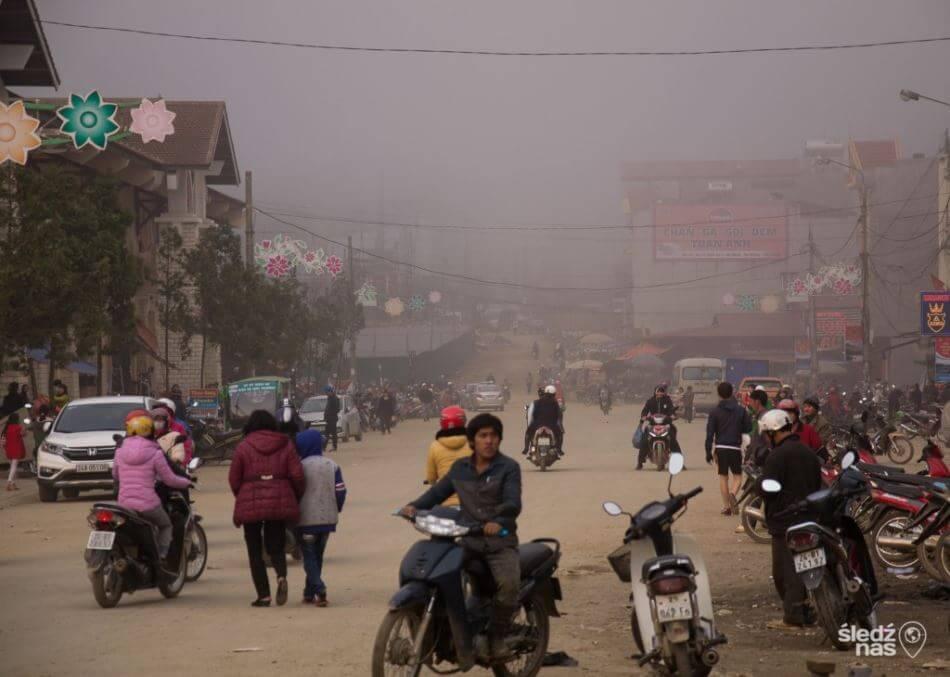 Ulica w mieście Sapa