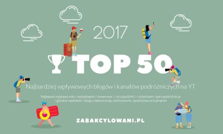 TOP 50 Najbardziej Wpływowych Podróżników w Polskich Mediach Społecznościowych w 2017 roku