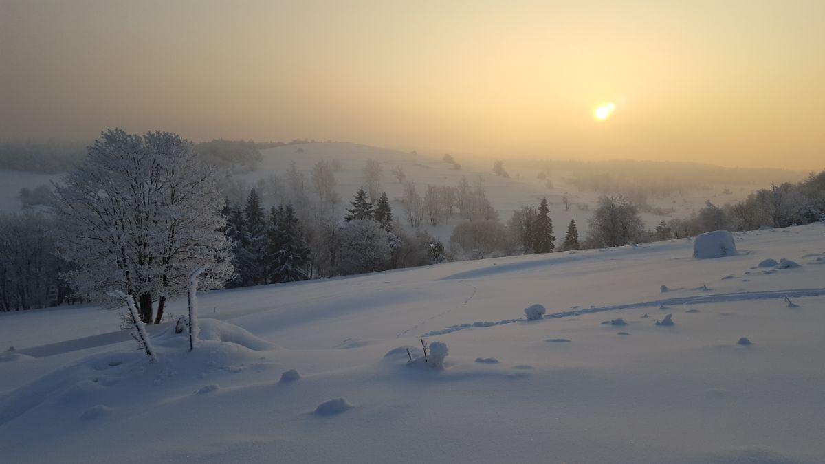 Magurski Park Narodowy zimą